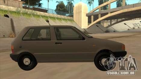 Fiat Uno 1995 para GTA San Andreas traseira esquerda vista