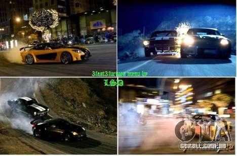 Velozes e furiosos fundo 3 menu para GTA San Andreas