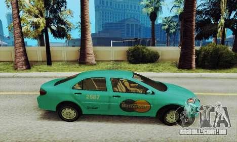 Toyota Corolla City Mastercab para GTA San Andreas esquerda vista
