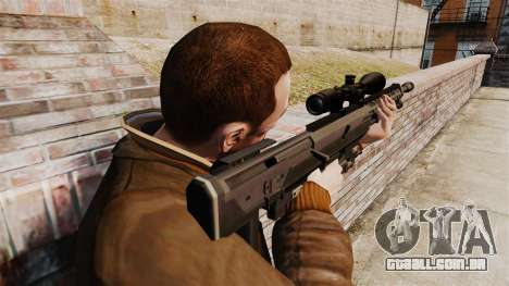 O DSR-1 sniper rifle para GTA 4 segundo screenshot