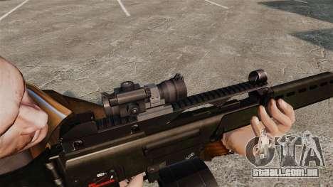 Fuzil de assalto de H & K MG36 v3 para GTA 4 por diante tela