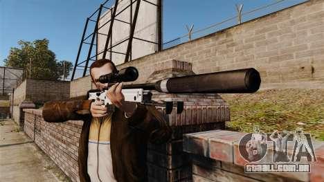 Rifle de sniper L115A1 AW com um silenciador v1 para GTA 4 terceira tela
