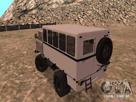 GAZ 66 assistir para GTA San Andreas traseira esquerda vista