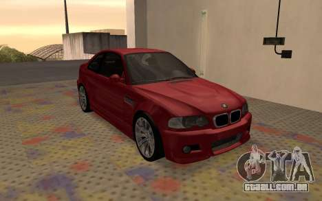 BMW M3 E46 2005 Body Damage para GTA San Andreas esquerda vista