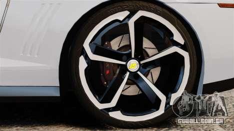 Chevrolet Camaro ZL1 2012 para GTA 4 vista de volta