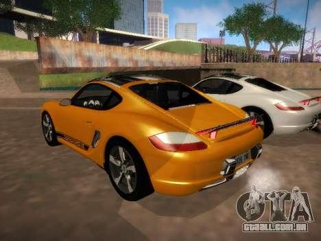 Porsche Cayman R 2007 para GTA San Andreas vista direita