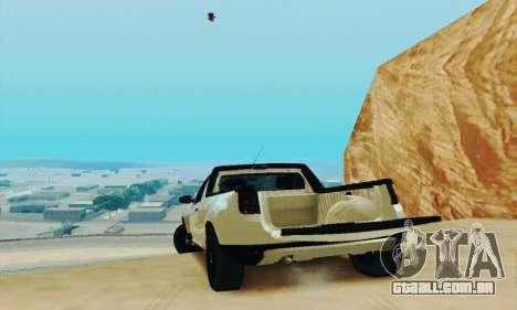 Dacia Duster Pick-up para GTA San Andreas vista traseira