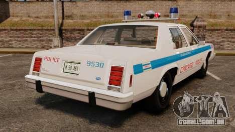 Ford LTD Crown Victoria 1987 [ELS] para GTA 4 traseira esquerda vista