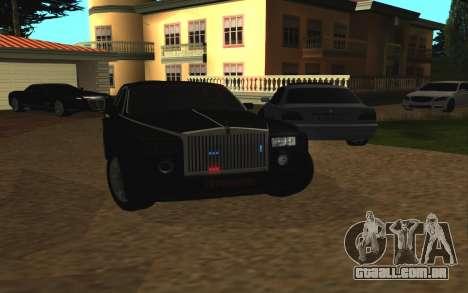 Rolls-Royce Phantom v2.0 para GTA San Andreas vista traseira