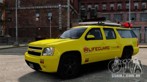 Chevrolet Suburban Los Santos Lifeguard [ELS] para GTA 4 vista lateral