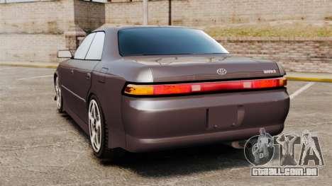 Toyota Mark II 1990 v1 para GTA 4 traseira esquerda vista