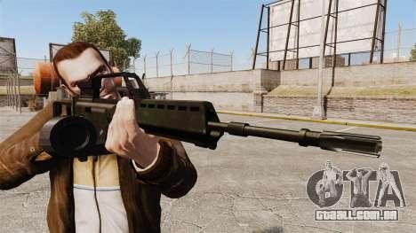Fuzil de assalto de H & K MG36 v1 para GTA 4 terceira tela