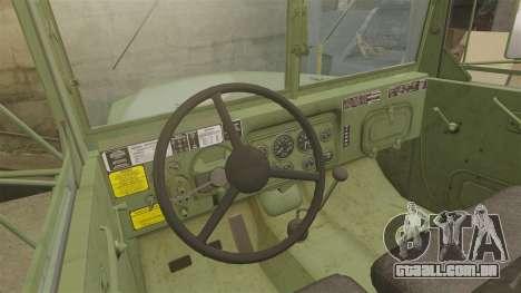 Base militar caminhão AM geral M35A2 1950 para GTA 4 vista superior