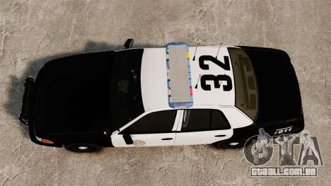 Ford Crown Victoria Police GTA V Textures ELS para GTA 4 vista direita