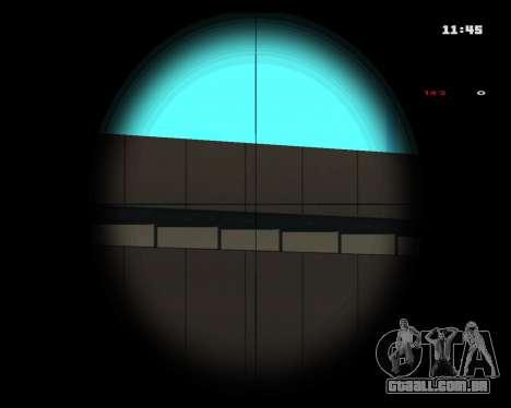 White Chrome Sniper Rifle para GTA San Andreas terceira tela