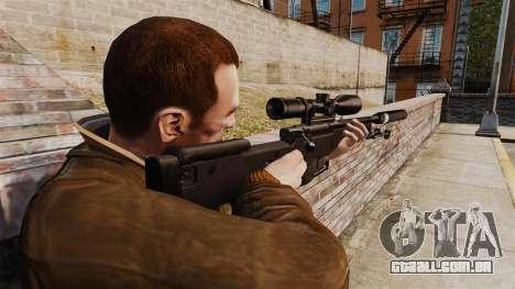 Rifle de sniper L115A1 AW com um silenciador v4 para GTA 4 segundo screenshot