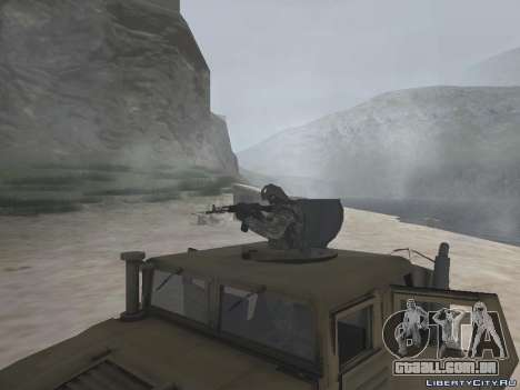 Hamvee M-1025 de Battlefiled 2 para GTA San Andreas vista direita