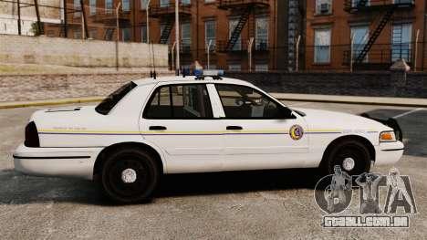 Ford Crown Victoria Police GTA V Textures ELS para GTA 4 esquerda vista