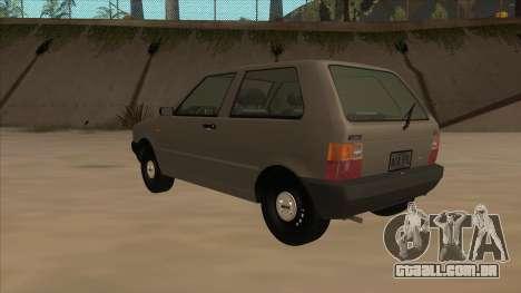 Fiat Uno 1995 para GTA San Andreas vista traseira