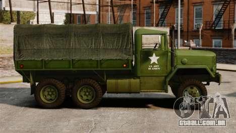 Base militar caminhão AM geral M35A2 1950 para GTA 4 esquerda vista