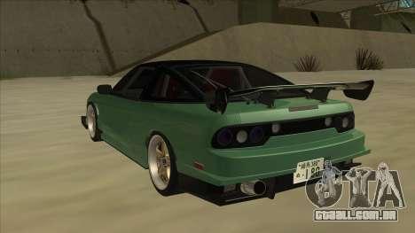Nissan 180SX Uras GT para GTA San Andreas vista traseira