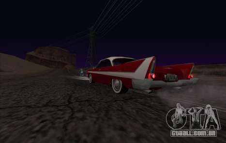 Plymouth Fury para GTA San Andreas vista traseira