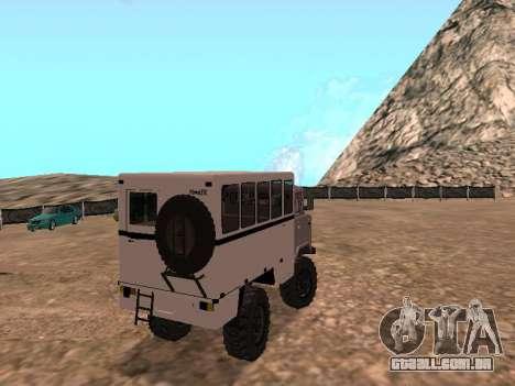 GAZ 66 assistir para GTA San Andreas vista direita