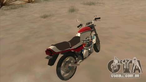 Honda CBX400F para GTA San Andreas traseira esquerda vista
