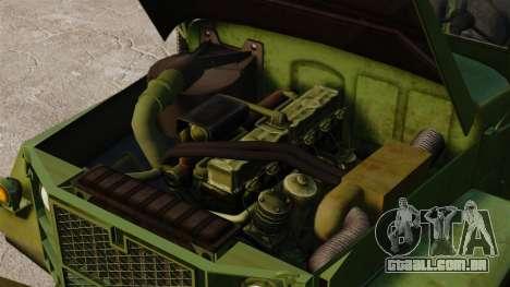 Base militar caminhão AM geral M35A2 1950 para GTA 4 vista lateral
