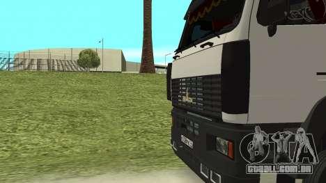 MAZ 5440 para GTA San Andreas vista superior