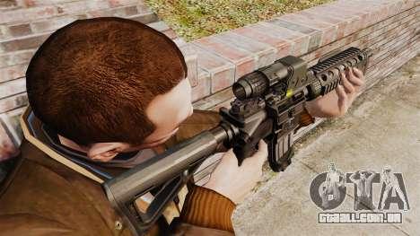 Carabina M4 CQC no estilo de Modern Warfare para GTA 4