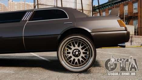 Limusine drag racing para GTA 4 vista de volta