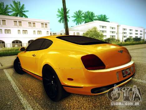 Bentley Continental GT para GTA San Andreas esquerda vista