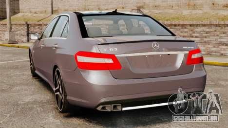 Mercedes-Benz E63 AMG para GTA 4