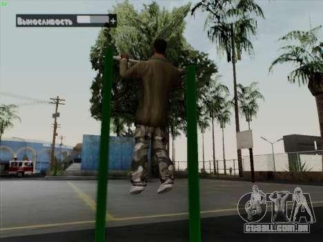 Barra horizontal para GTA San Andreas quinto tela
