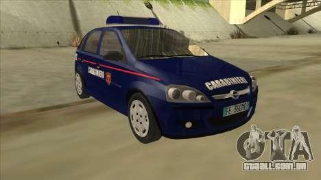 Opel Corsa 2005 Carabinieri para GTA San Andreas esquerda vista