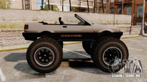 Futo Monster Truck para GTA 4 esquerda vista