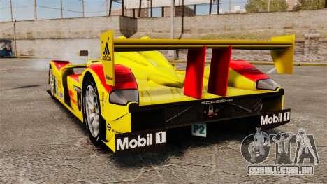 Porsche RS Spyder Evo para GTA 4 traseira esquerda vista