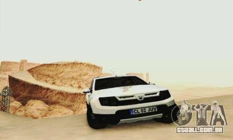 Dacia Duster Pick-up para GTA San Andreas traseira esquerda vista
