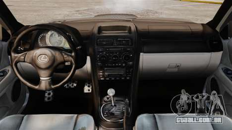 Lexus IS 300 para GTA 4 vista de volta