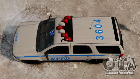 Chevrolet Tahoe 2007 NYPD [ELS] para GTA 4 vista direita