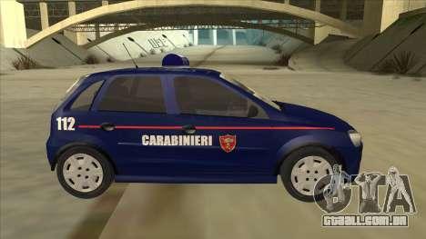 Opel Corsa 2005 Carabinieri para GTA San Andreas traseira esquerda vista