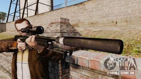 Rifle de sniper L115A1 AW com um silenciador v4 para GTA 4 terceira tela