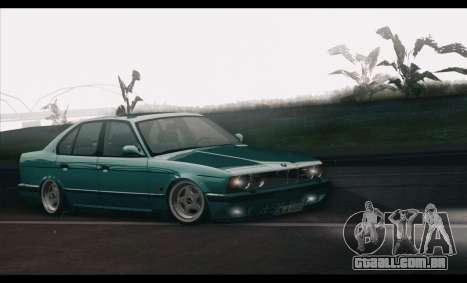 BMW 5-er E34 para GTA San Andreas esquerda vista