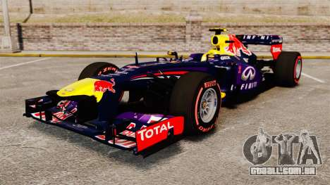 RB9 v6 carro, Red Bull para GTA 4