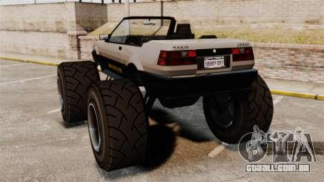 Futo Monster Truck para GTA 4 traseira esquerda vista