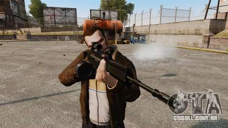 Fuzil de assalto de H & K MG36 v3 para GTA 4 terceira tela