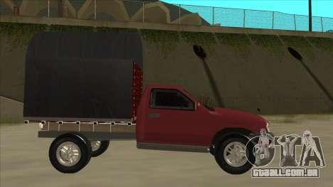 Chevrolet Luv 2.500 diesel para GTA San Andreas traseira esquerda vista