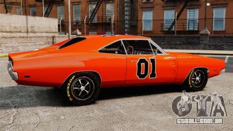Dodge Charger General Lee 1969 para GTA 4 esquerda vista