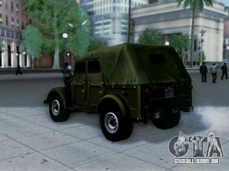 UAZ-69A para GTA San Andreas esquerda vista